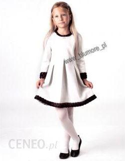3515495e9b Sukienka wizytowa dla dziewczynki 128 - 152 Roksana ecru - Ceny i ...