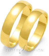 a76d0ac75ea48f Gold Lux Klasyczne Półokrągłe Obrączki z Żółtego Złota