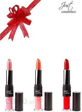 Just Cosmetics zestaw dla kobiet: 3 sztuki :pomadka i błyszczyk 2w1 pomadka i błyszczyk) 14482341 Ceny i opinie Ceneo.pl