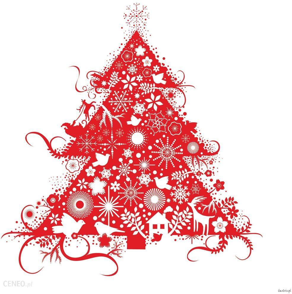 Znalezione obrazy dla zapytania kartka świąteczna choinka