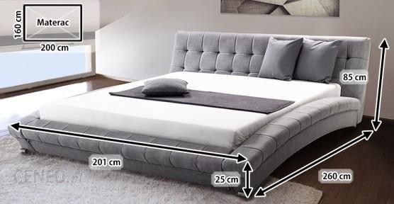 Beliani Nowoczesne łóżko Tapicerowane Ze Stelażem 160x200cm Lille Szare
