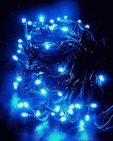 Oświetlenie świąteczne 96 Led Lampek Niebieskie Programowalne Vs368