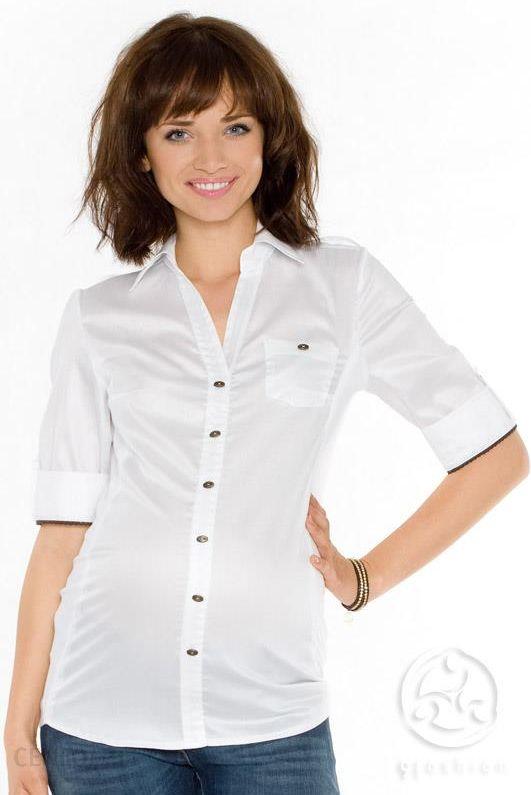 1526e115223c7b Koszula ciążowa Gores biała, 9fashion - Ceny i opinie - Ceneo.pl