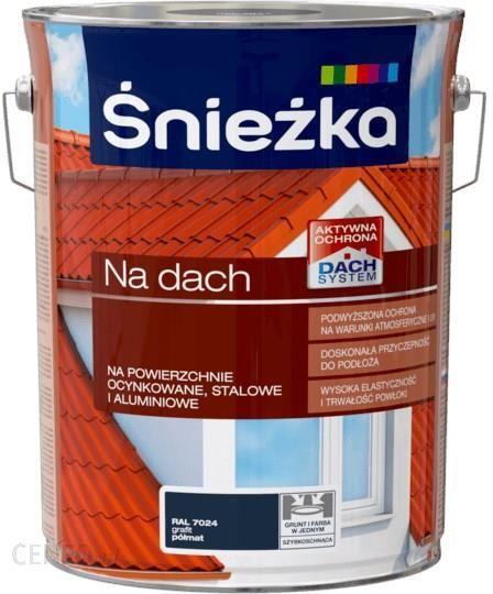 Farba Sniezka Poliwinylowa Na Dach Grafitowa 5l Opinie I Ceny Na Ceneo Pl