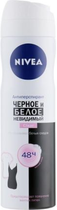 NIVEA Invisible for Black and White Clear 48 h Antyperspirant w aerozolu 150ml