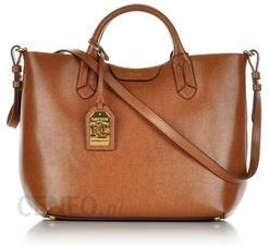 ab346f8b0c7f6 Ralph Lauren średnia torebka skórzana jasnobrązowa - Ceny i opinie ...