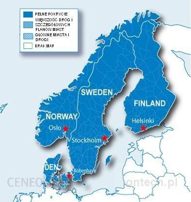 Mapa Do Nawigacji Garmin City Navigator Skandynawia Nt Microsd Sd