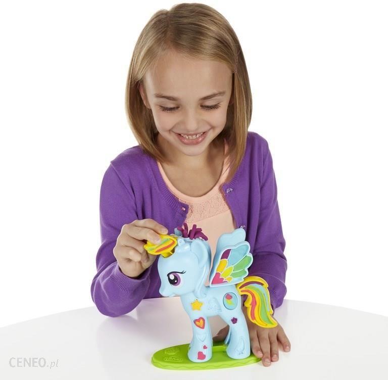 Hasbro Play Doh Salon Fryzjerski Rainbow Dash B0011 Ceny I Opinie
