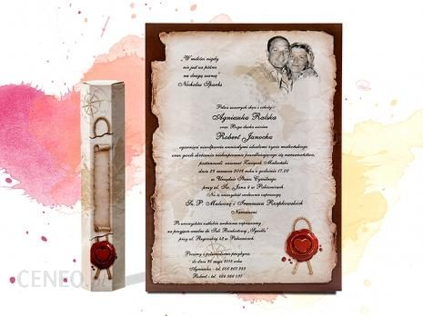 Dekoprint Zaproszenia ślubne Zawiadomienia Na ślub W Formie Rulonu Z