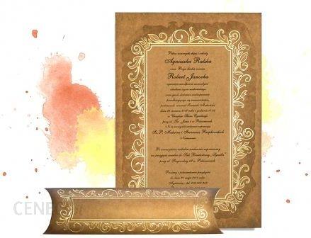 Dekoprint Brązowe Zaproszenia ślubne Zawiadomienia Na ślub Z