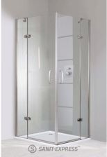 Huppe Aura Elegance 90/90/190 Srebrny Privatima Anti-Plaque 400513.087.375