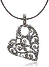 7946b6c698cc Anka Biżuteria modna Biżuteria - Wisiorki Srebrne - Serce Srebrne Z  Markazytami