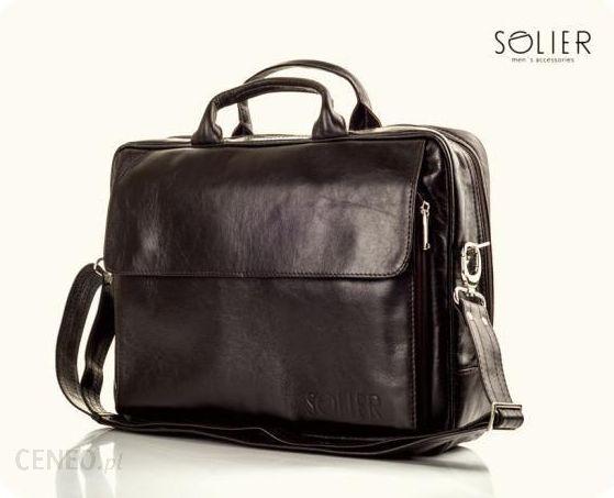666c1db51f98d Skórzana męska torba na ramię   laptop Solier Rothen SL30 - Brązowy -  zdjęcie 1