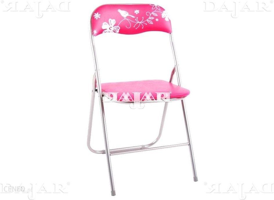 Krzesło Ogrodowe Patio Krzesło Składane Flower Fuksja