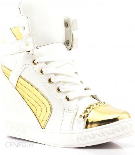 Białe Sneakersy White Shiny Sneakers Casadei