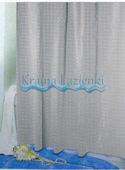 Bisk Zasłonka Prysznicowa Eva 3d Squares Szary 05844