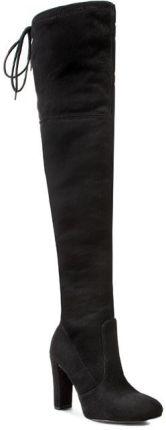 Czarne kozaki na słupku zdobione buty NC271 38 Ceny i opinie Ceneo.pl