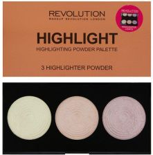 Makeup Revolution Makeup Revolution Highlighter Palette Paletka 3 rozjaśniaczy Highlight  - zdjęcie 1