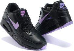 Buty Nike Air Max 90 czarne, fioletowa podeszwa Ceny i opinie Ceneo.pl