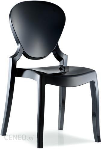 Modernistyczne Pedrali Designerskie Krzesło Z Poliwęglanu Queen Czarne PED-KRZ SY26