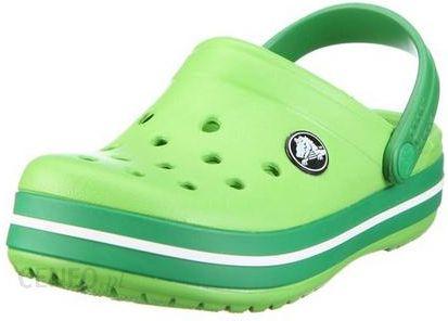 rozmiar 40 złapać gładki Crocs Kids Crocband Lime Kelly Green Limonkowe Zielone klapki dla dzieci  Różne rozmiary
