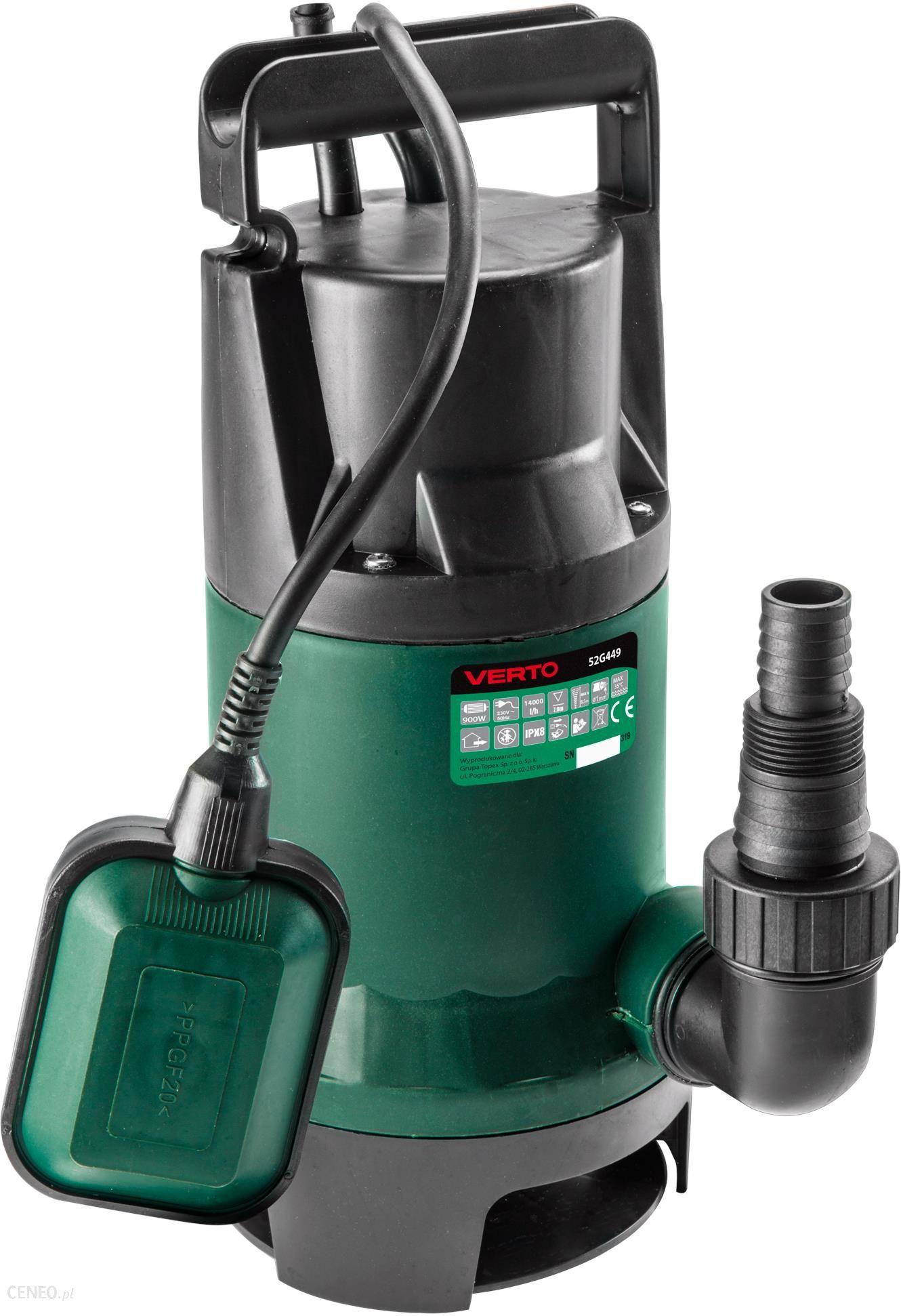 Topnotch Verto Pompa zanurzeniowa do wody brudnej 900W 52G449 - Ceny i XG19