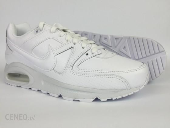 buty nike air max command leather all white