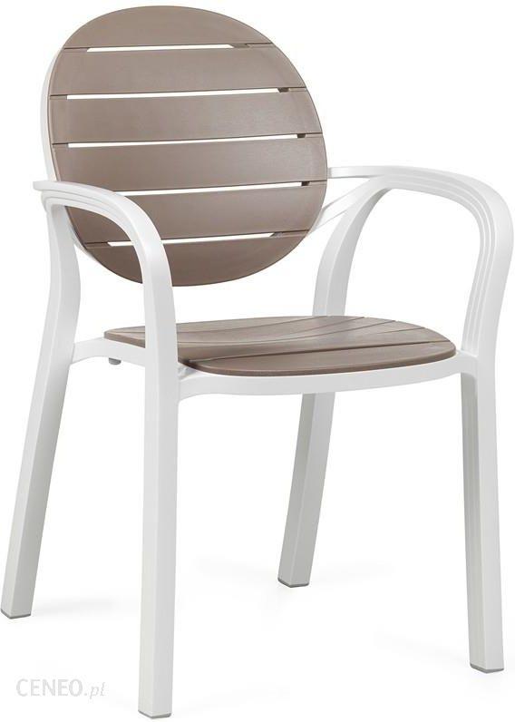 Nardi Krzesło Ogrodowe Na Taras Palma Biało-kawowe