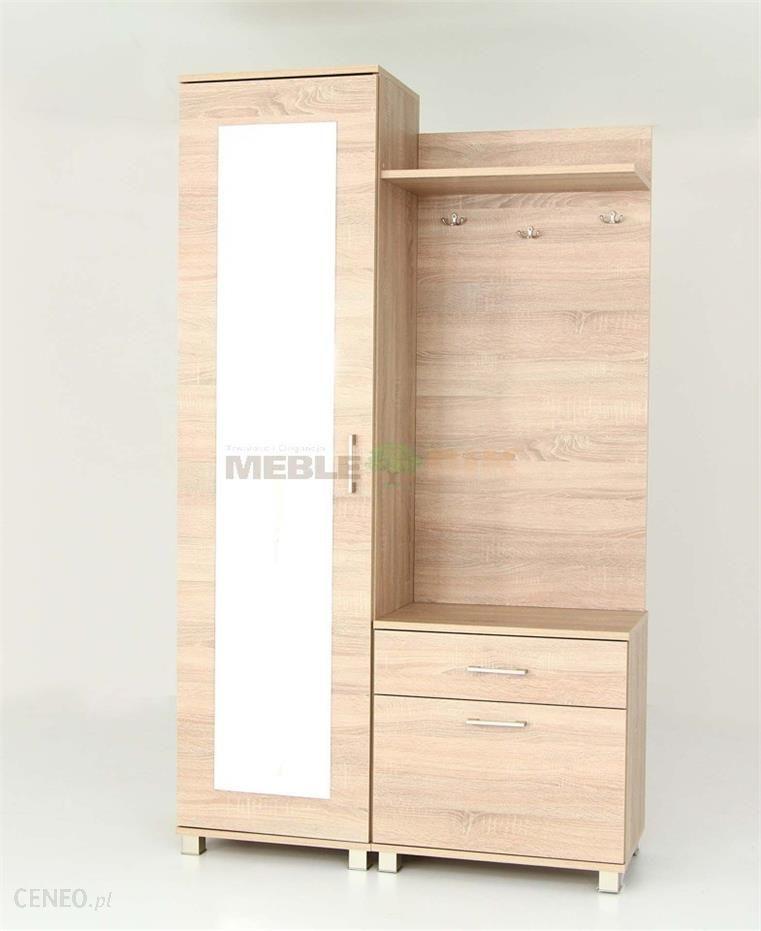 olo garderoba z lustrem w kolorze sonoma wykonana jest z. Black Bedroom Furniture Sets. Home Design Ideas
