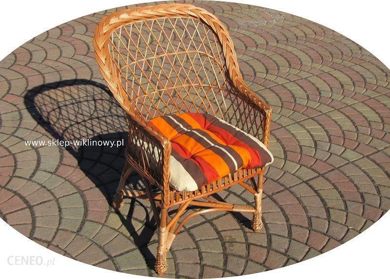 Sklep Wiklinowy Fotel Z Poduszką 02