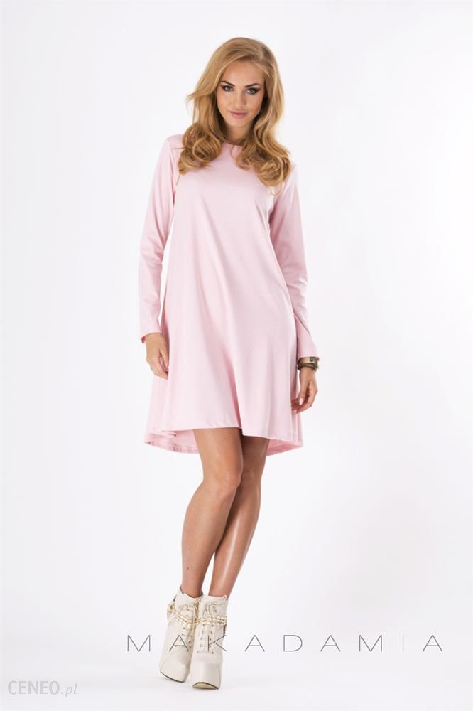 Sukienka M123 Pudrowo Różowa