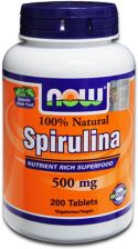 Now Foods Spirulina 500 mg 200 kaps.