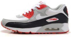 Nike Air Max 90 Buty sportowe biało czerwono szare Ceny i