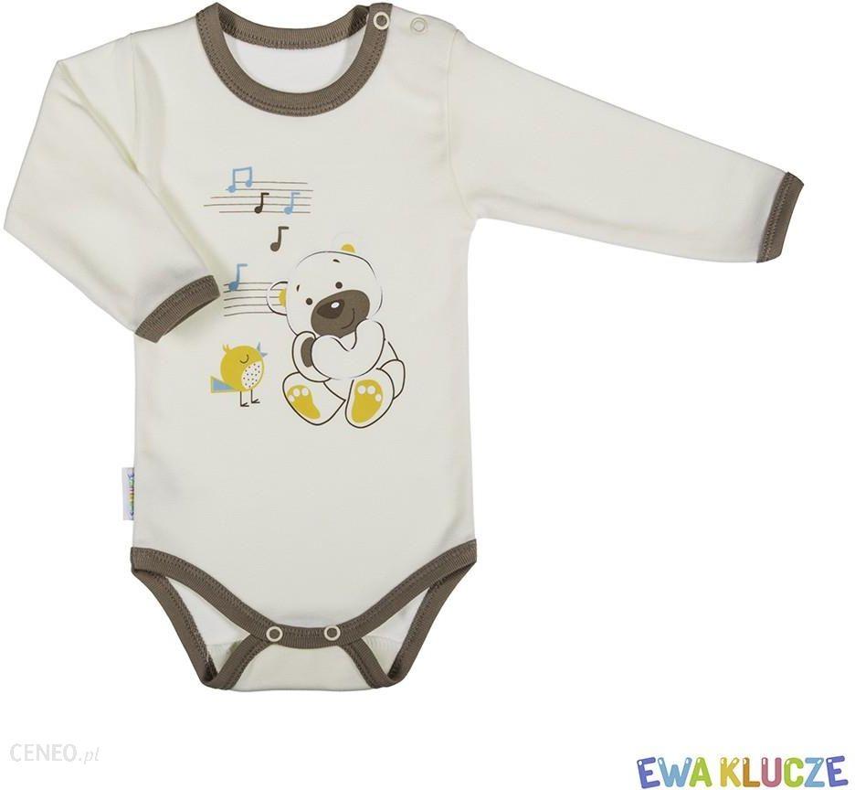 45d5f9ae703abd Body niemowlęce bawełniane długi rękaw MIŚ 68-104 Ewa Klucze - zdjęcie 1