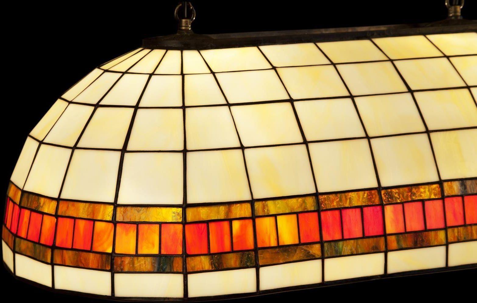 Klimatyczna lampa bilardowa Tiffany, witrażowa aż 112 cm
