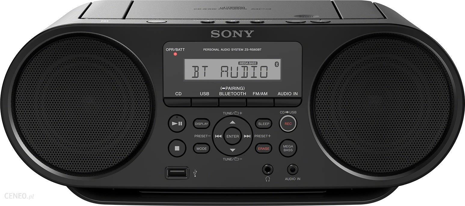 Radioodtwarzacz Sony Zs Rs60bt Opinie I Ceny Na Ceneo Pl