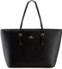 Wittchen Elegance torebka skórzana saffiano czarna