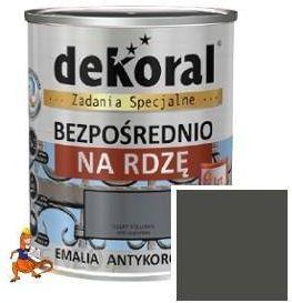 Dekoral Emalia Antykorozyjna Szary Stalowy Półmat Na Rdzę Spec 650ml