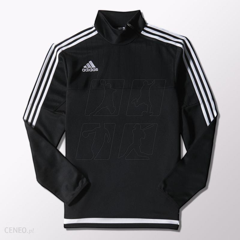 Odzież piłkarska Bluza adidas Tiro 15 Czarny Biały