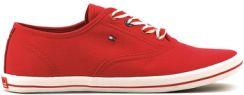 cd20ccf024f1c Buty Tommy Hilfiger Victoria 1D - Czerwone Canvasowe Trampki Damskie -  FW56819050 25