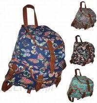 10eca952d28a9 CB151 Motyle Neon Butterfly Plecak Wycieczkowy Szkolny Turystyczny Miejski  Damski plecaki - zdjęcie 1
