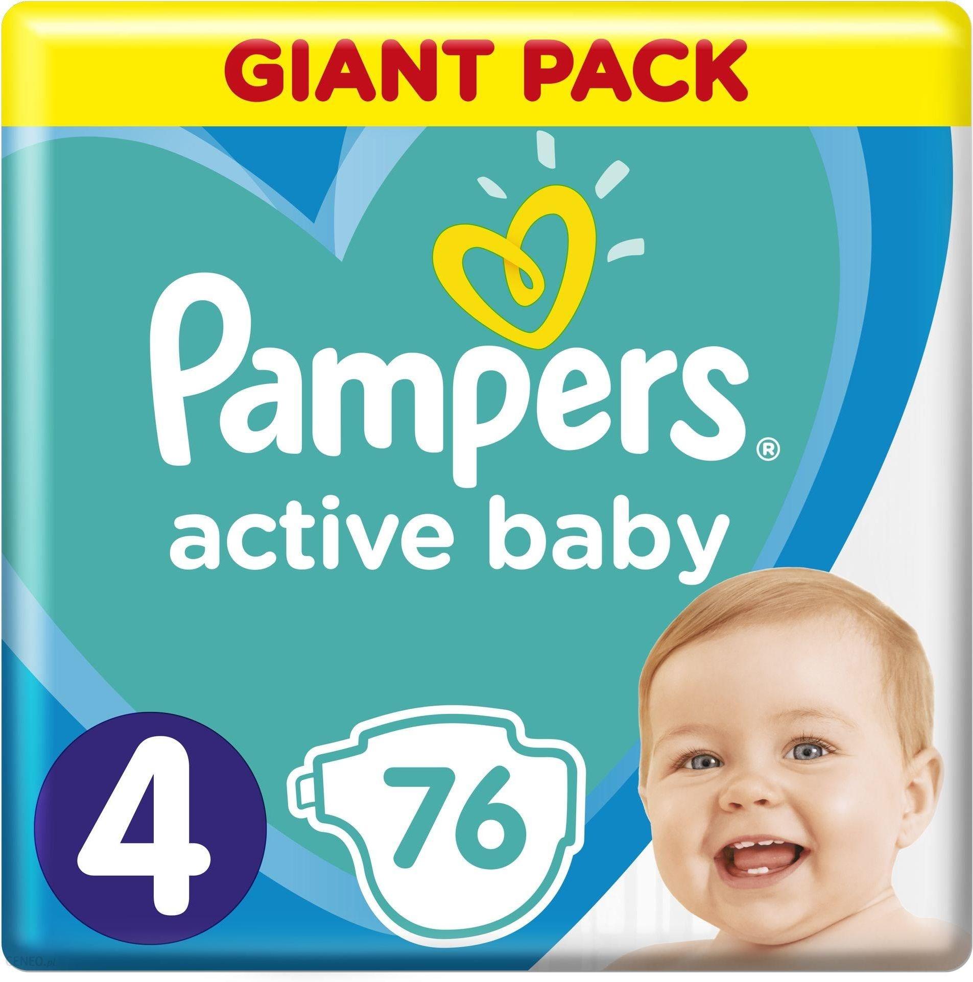 Pampers Active Baby Dry Rozmiar 4 Maxi 76 Pieluszek