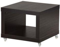 Ikea Lack Stolik Na Kółkach Czarnobrązowy Opinie I Atrakcyjne Ceny Na Ceneopl