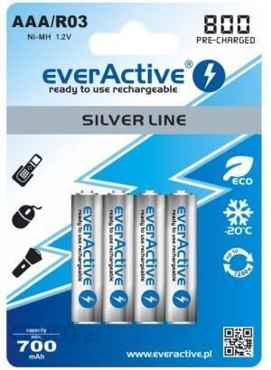 everActive 4x akumulatorki R03/AAA Ni-MH 800 mAh ready to use (EVHRL03-800)