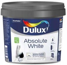Dulux Absolute White Biała 9L