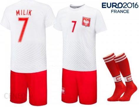 71eba0013 Milik - Polska - strój komplet piłkarski ze skarpetami - Ceny i ...
