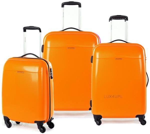 94d02666e3d81 Komplet walizek z poliwęglanu Puccini PC 005 - Pomarańczowy - Ceny i ...