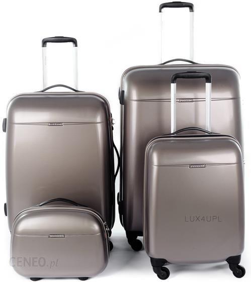 1a947da88e4c9 Komplet walizek z poliwęglanu + kuferek Puccini PC 005 - Brązowy - zdjęcie 1