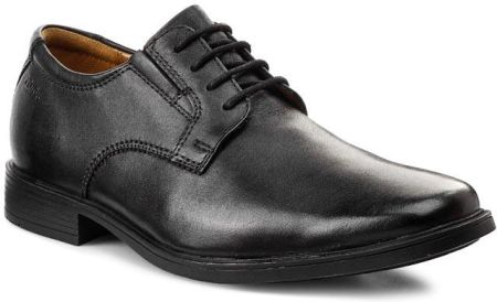 Półbuty CLARKS - Tilden Plain 261103507 Black Leather