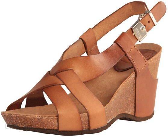 7600dd0cac3791 SCHOLL CORANTA brown skórzane sandały na koturnie, podeszwa bioprint. -  zdjęcie 1